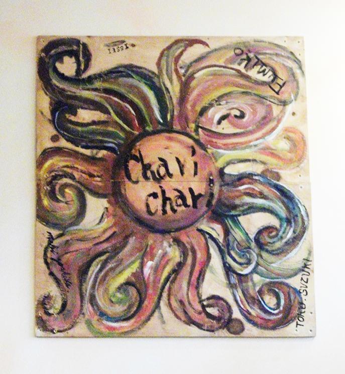 chari chariと描かれた絵