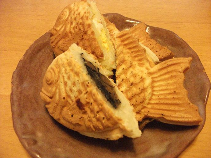 粉処味 たいやき 黒豆とベーコンタマゴ